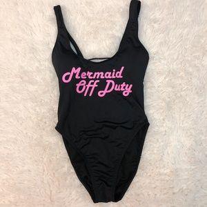 0412c1d5a0a08 The Bikini Lab Swim - Bikini Lab  Mermaid Off Duty  High Cut One Piece